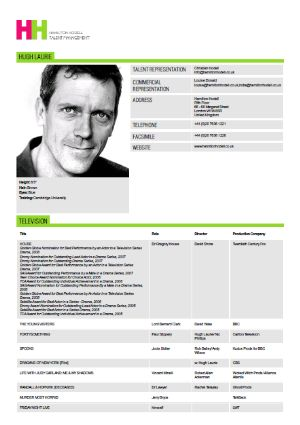 the actor s slate your actor resume