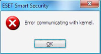 Error communicating with kernel ESET