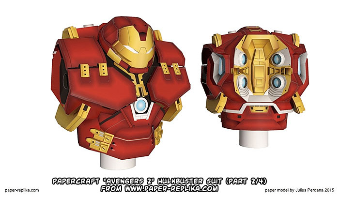 Parts 1+2 of Paper-Replika's Hulkbuster; check back for parts 3-4!