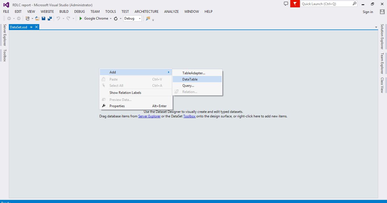 rdlc create pdf from dataset