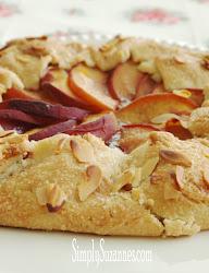 peach & almond galette