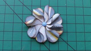 Como fazer flor de papel, flor scrapbook, flor de papel, flor artesanal, como fazer flor de papel