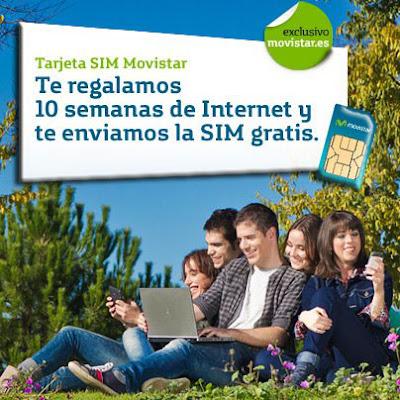 Promocion prepago Movistar 10 semanas gratis de Tarifa Plana Internet 3