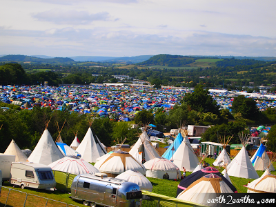 Glastonbury 2013 Tipi Huts