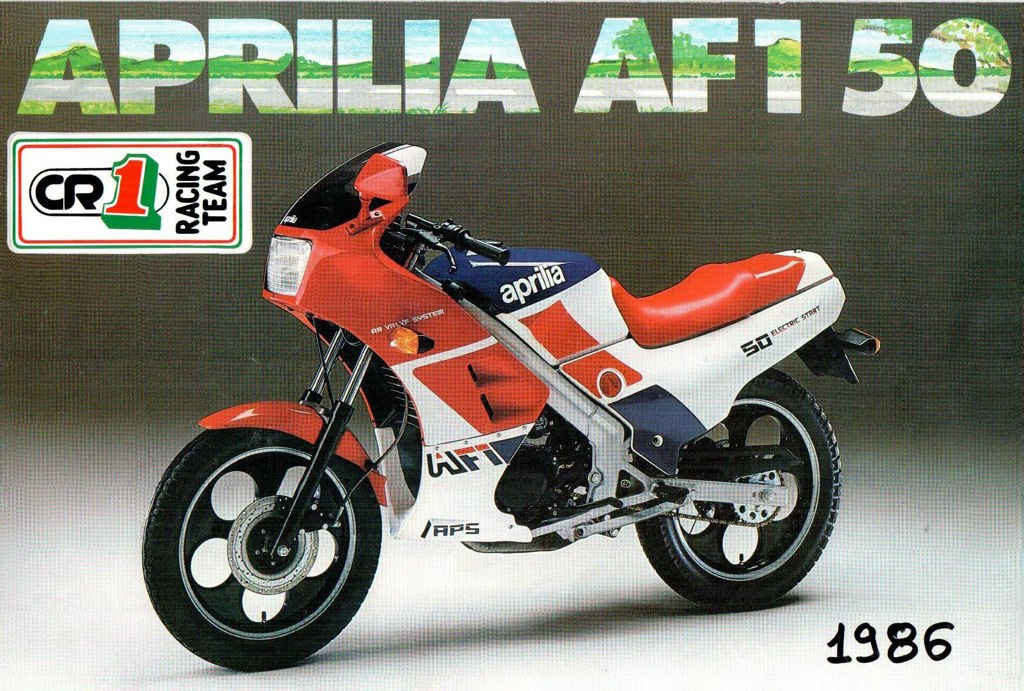 Aprilia Italy  city photo : Racing Cafè: Vintage Brochures: Aprilia AF1 50 1986 Italy