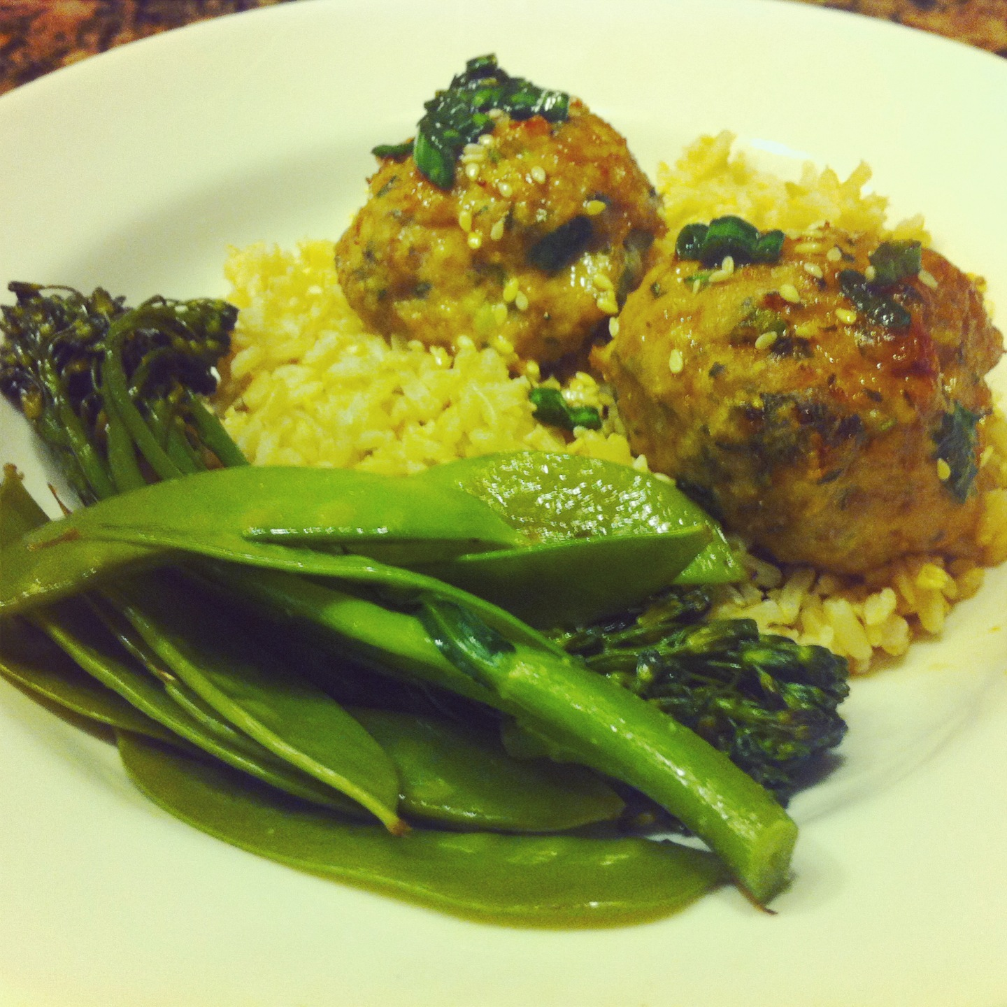 ... : Skinny Asian Turkey Meatballs With Lime Sesame Dipping Sauce