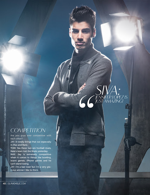 Siva the wanted na revista Glamoholic