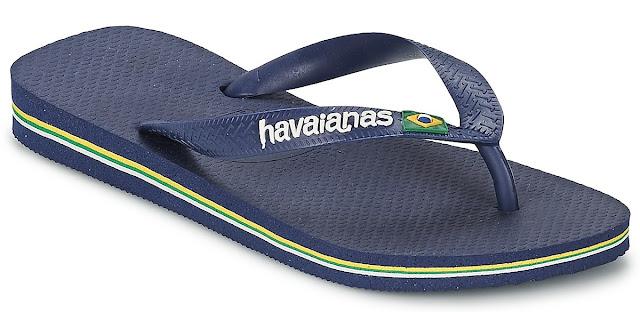 Havaianas brasil logo bleue