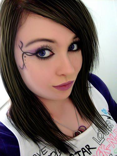 эмо макияж для девушек поэтапно фото