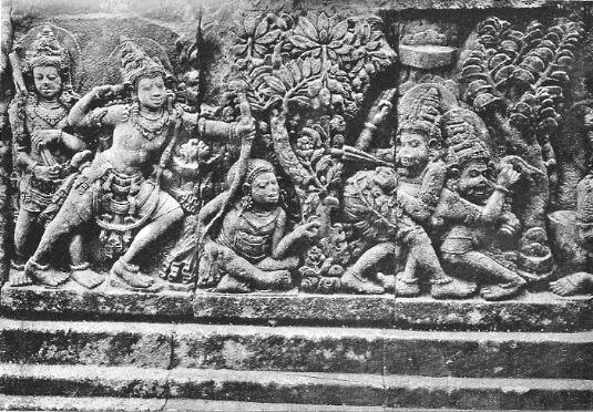 Gambar Relief Candi Prambanan Yogyakarta 1