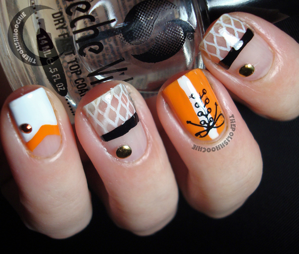 Thepolishhoochie lets go orange ncaa march madness nails im really not great at nail art at all so this was my attempt of breaking in to the nail art world and stamping prinsesfo Choice Image