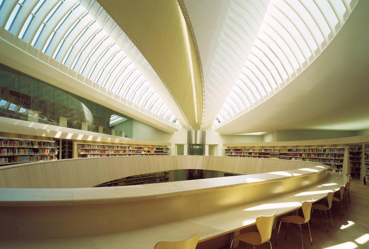 University law library zurich santiago calatrava for Architecture zurich