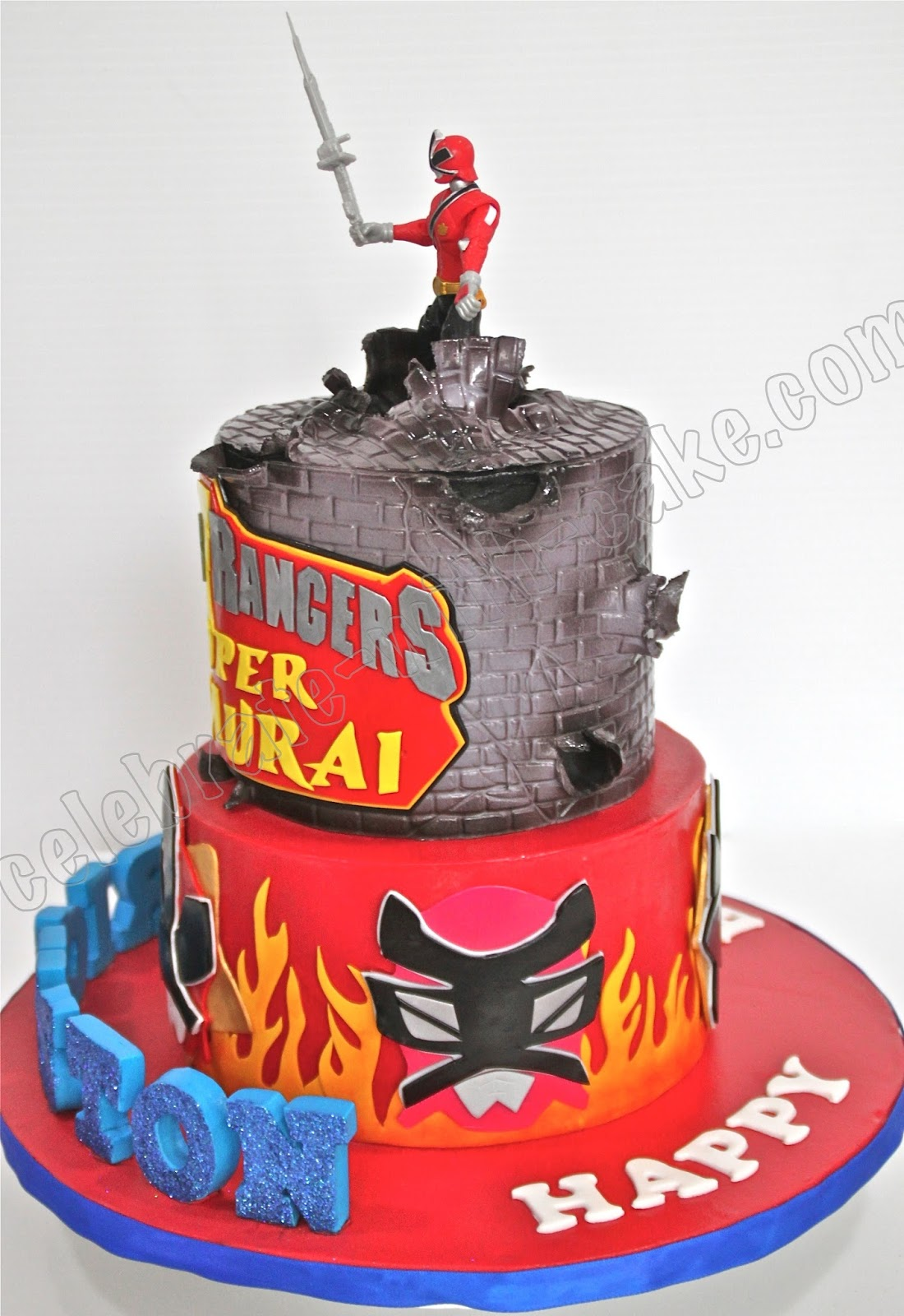 Power Rangers Super Samurai Cake
