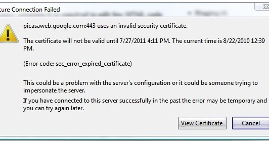 Tech 2 Peace: Fix - Invalid Security Certificate! Error Code ...