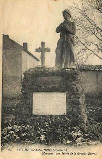 CPA monuments aux Morts du Puy-de-Dôme, Le Cheix sur Morge