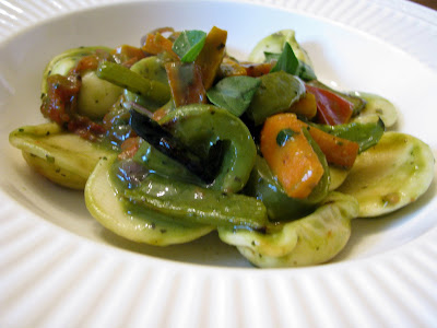 ravioli with pesto