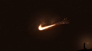 Nike Logo Fire Flaming Lights HD Wallpaper