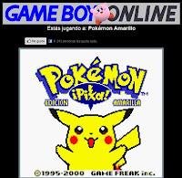 juego de game boy Pokemon en linea