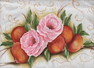 rosas e romãs