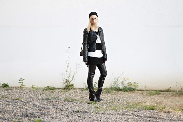 monochrome autumn outfit 2015