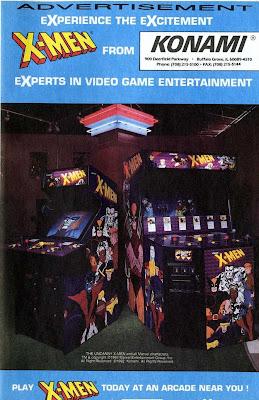 X-Men arcade game advertisement