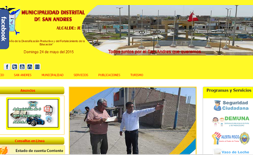 PORTAL WEB DE MUNICIPALIDAD DE SAN ANDRES