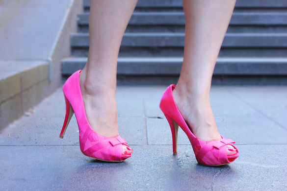 Zara Pink Bow Heels