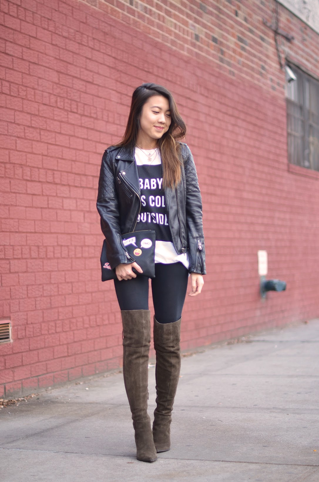 explicit affairs angela chen christmas outfit over the knee boots