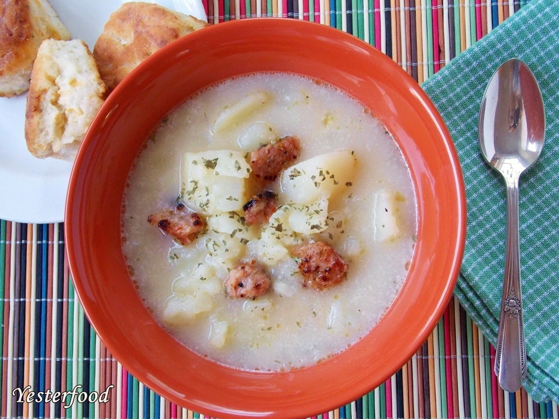Yesterfood : Roasted Garlic Potato Soup