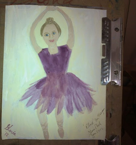 Ballerina sketch by Gloria Poole of Missouri