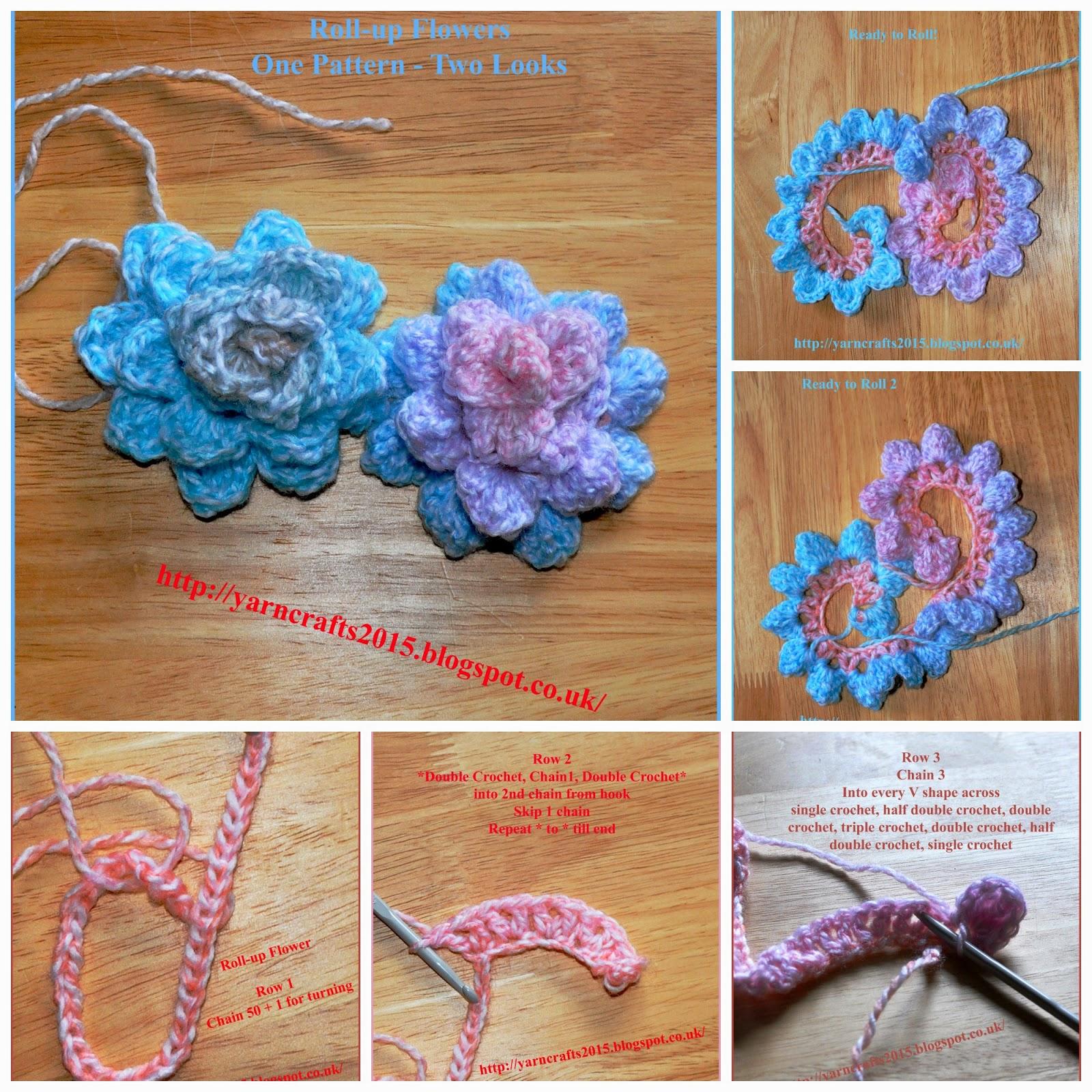 crochet flower photo tutorial