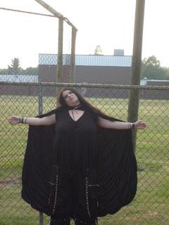 Birthdayinabox.com review Womens 63 Deluxe Black Velvet w/ Purple Satin Adult Cape