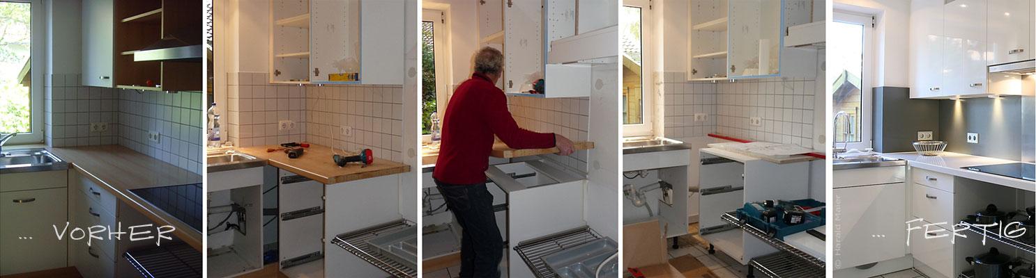 Wir renovieren ihre küche : kueche hochglanz weiss
