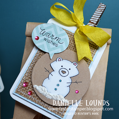 Snowy Bear Tag by Danielle Lounds for Newton's Nook Designs!