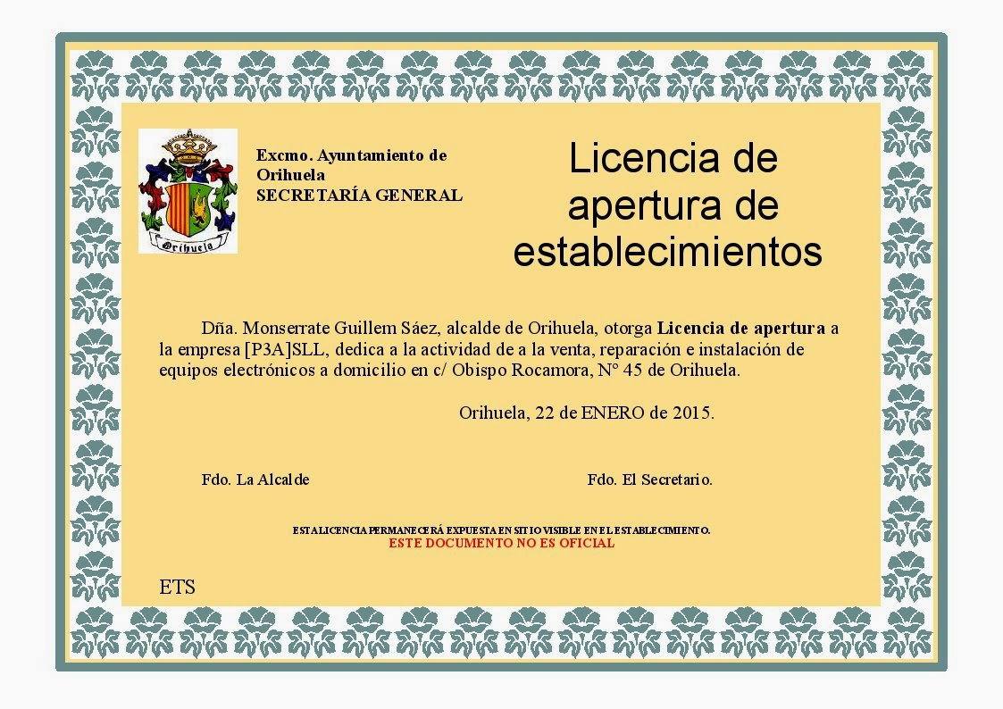 P3asll 7 ayuntamiento - Licencia apertura local madrid ...