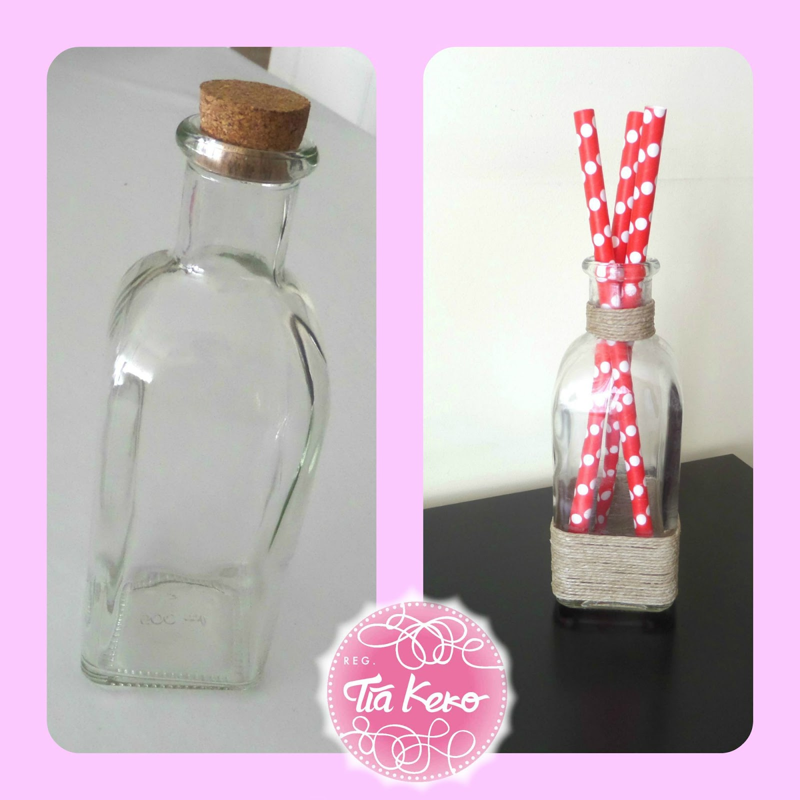 Manualidades con ni os decorar una botella de cristal - Decorar botellas de cristal ...