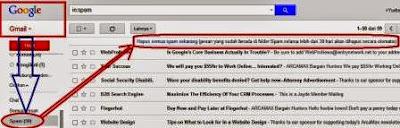 gambar email gmail melindungi akun anda dari SPAM