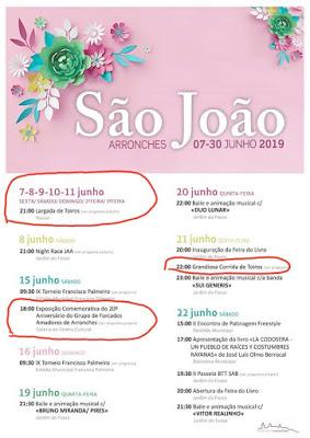 SÃO JOÃO EM ARRONCHES - 07 A 30 JUNHO DE 2019.