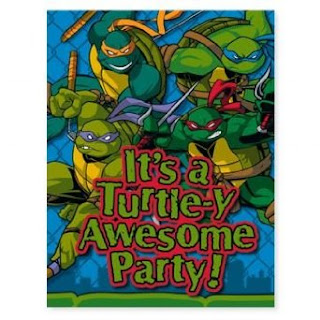 Carrying On With The Teenage Mutant Ninja Turtles Birthday Theme I Have Created A Invitations Lens