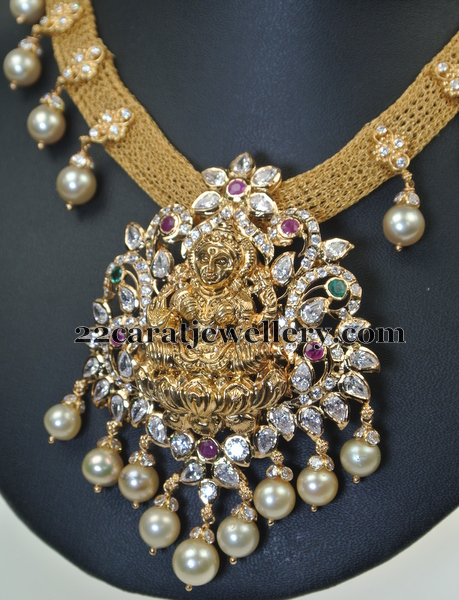Adorable Laxmi Set by Swarna Sri Jewellers