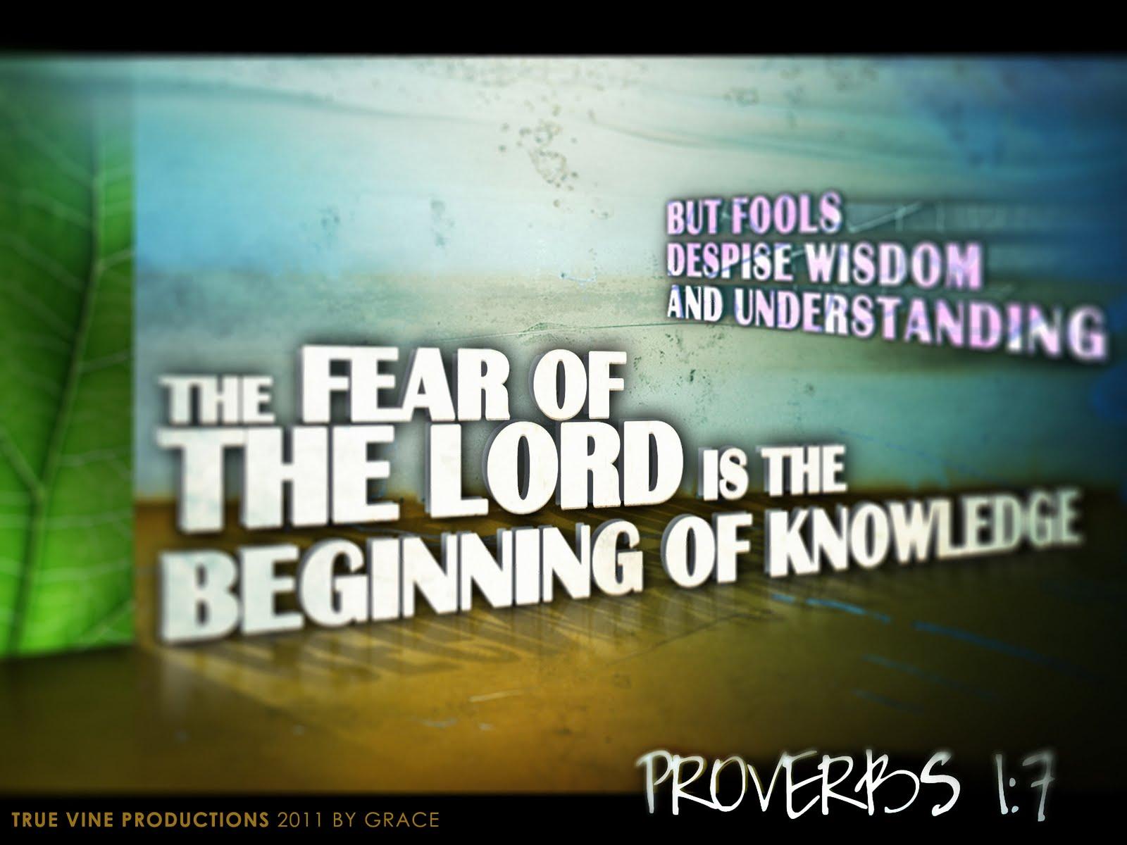 Proverbs 1 7 Wallpaper HD