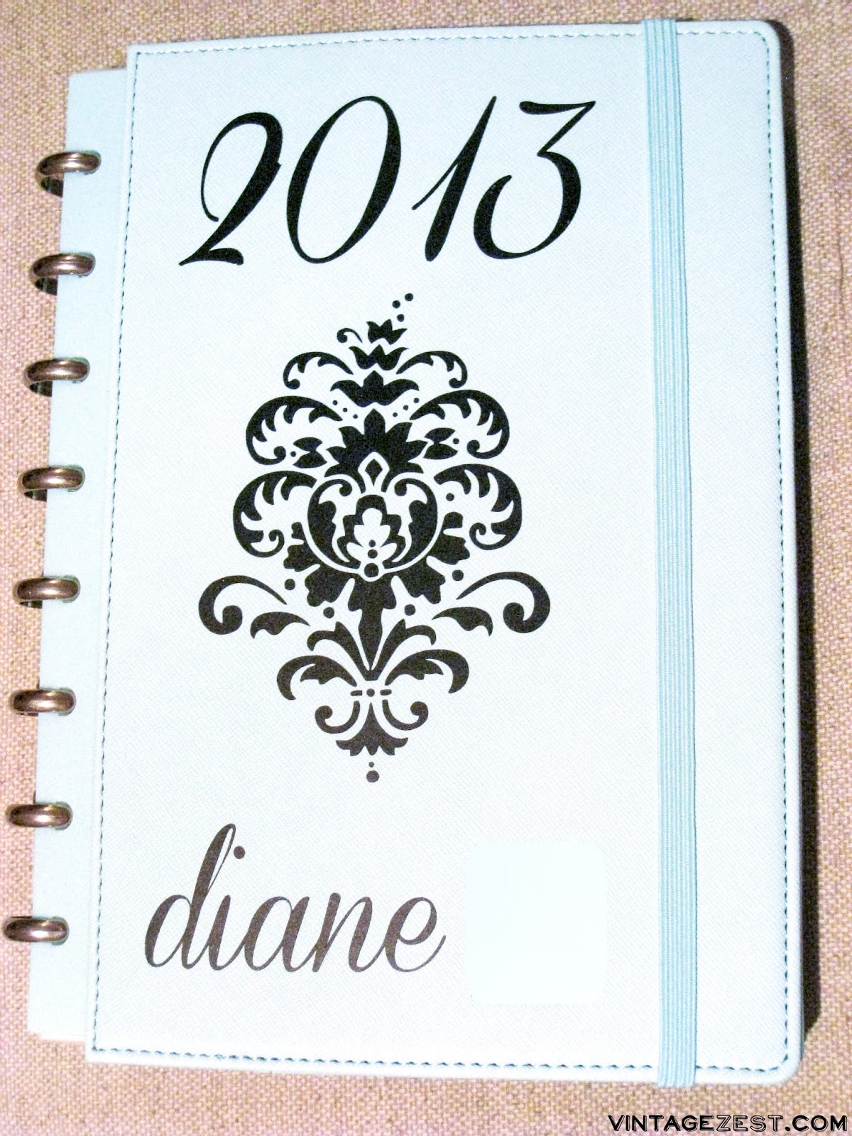 My Customized 2013 Calendar and Planner on Vintage Zest