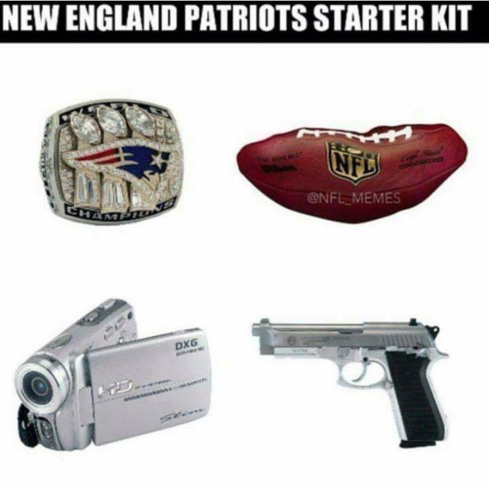 #starterkit #kit #cheatriots #patriotshaters #nfl #nflmeme.- New england patriots starter kit
