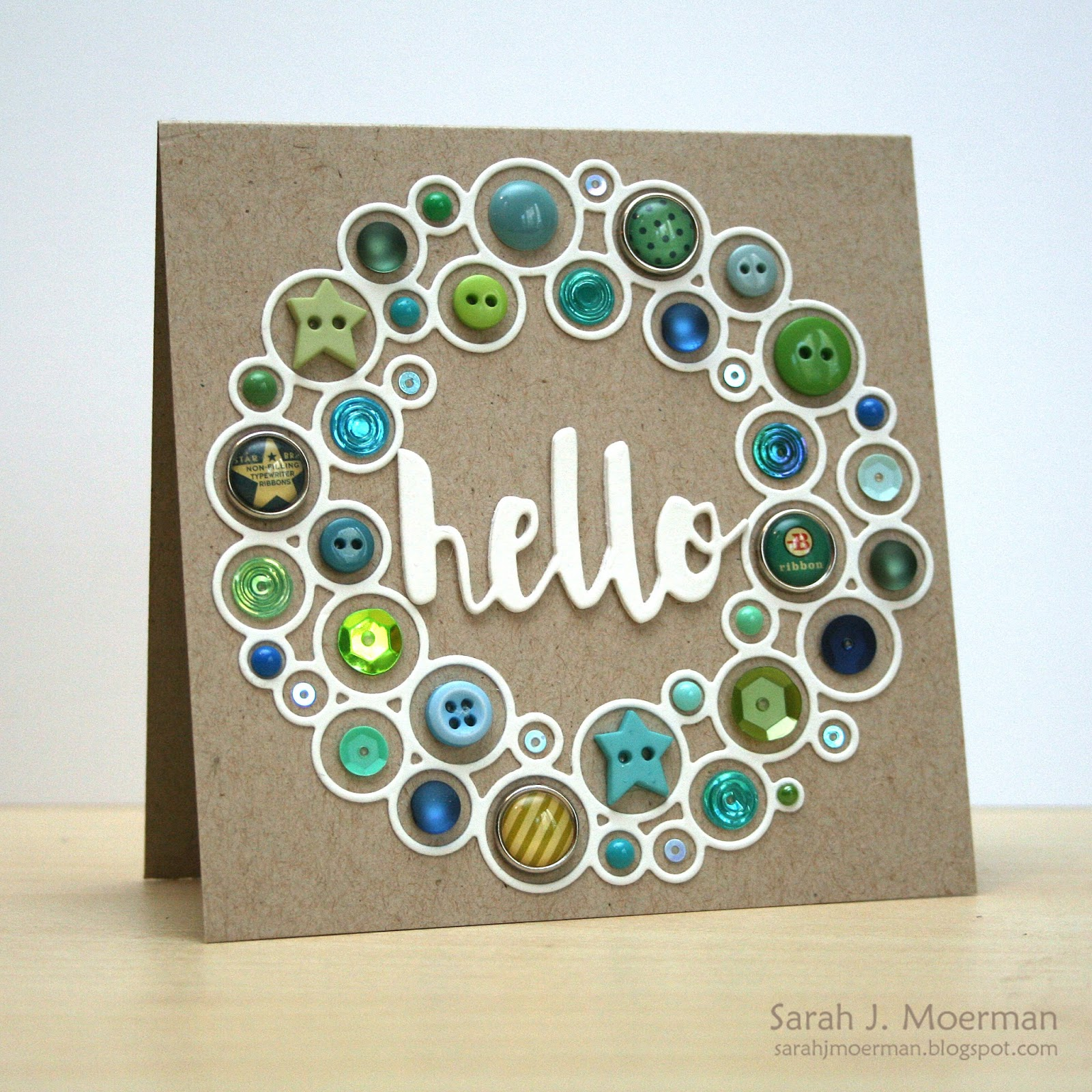 my impressions  simon says stamp hello wreaths  with