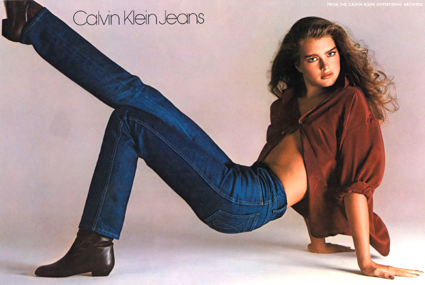 Brooke Shields photographed by Richard Avedon in 1980 for Calvin Klein jeans campaign via fashioned by love british fashion blog