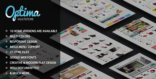 Optima - Responsive eCommerce HTML5 Template free download