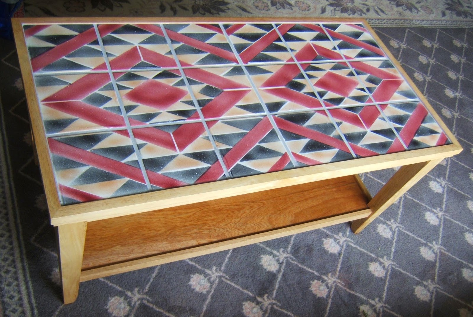 Navajo Rug Pattern Ceramic Tile Coffee Table | Architectural ...