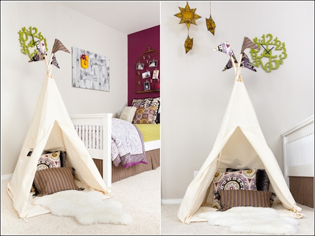 d corez la chambre ou la salle de jeux de votre enfant avec un tipi d cor de maison. Black Bedroom Furniture Sets. Home Design Ideas