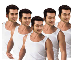 Snapdeal : Buy Alfa Stylo Men's White Sleeveless Vest – Pack Of 5 at Rs. 360 only