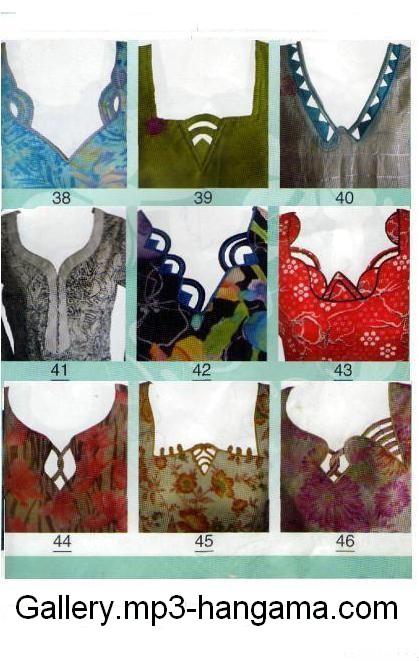 Designs | Neckline Fashion | Gala / Neck Designs of Kameez Dresses